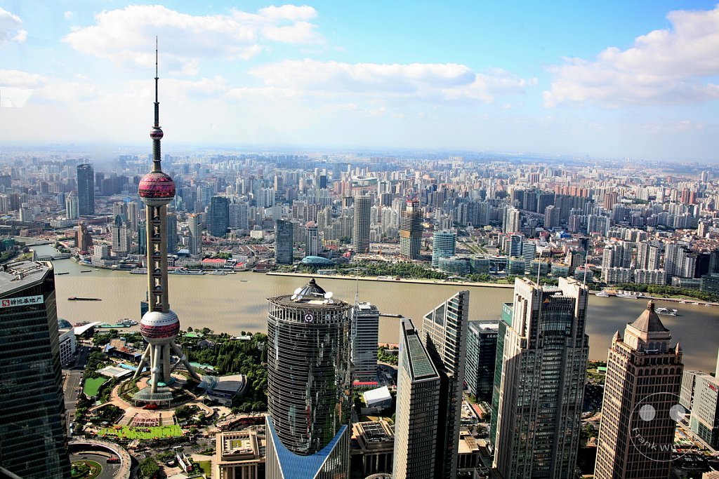 Shanghai -  Pudong - Oriental Pearl Tower vom Jin Mao Tower