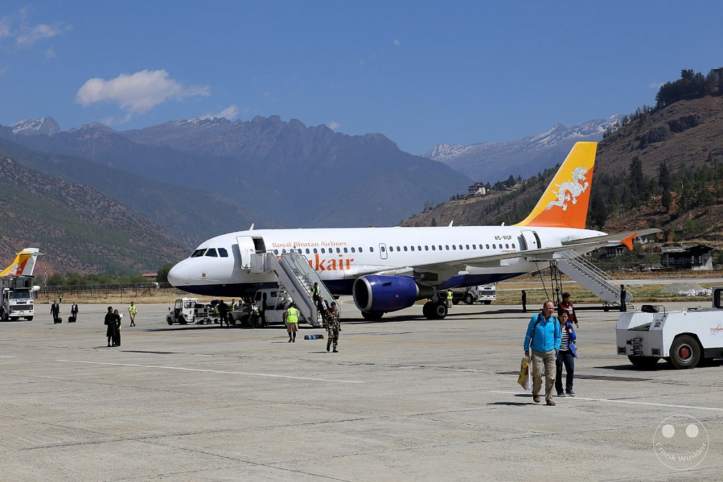 Paro - Airport - Drukair - Royal Bhutan Airlines