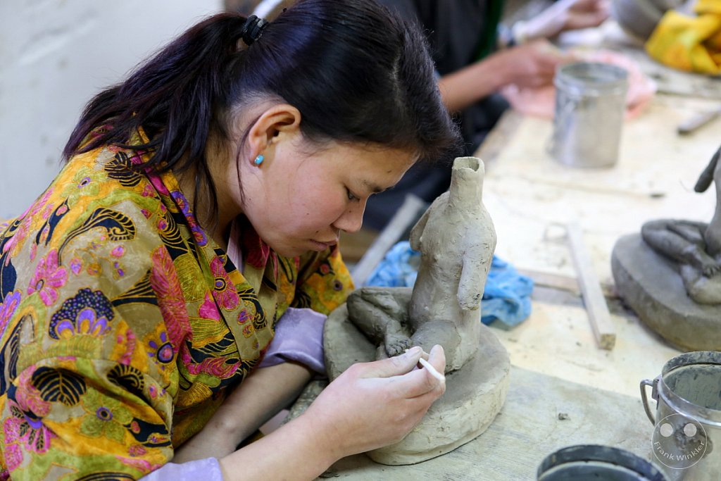 Thimphu - school of arts and crafts - Schule der Handwerkskunst